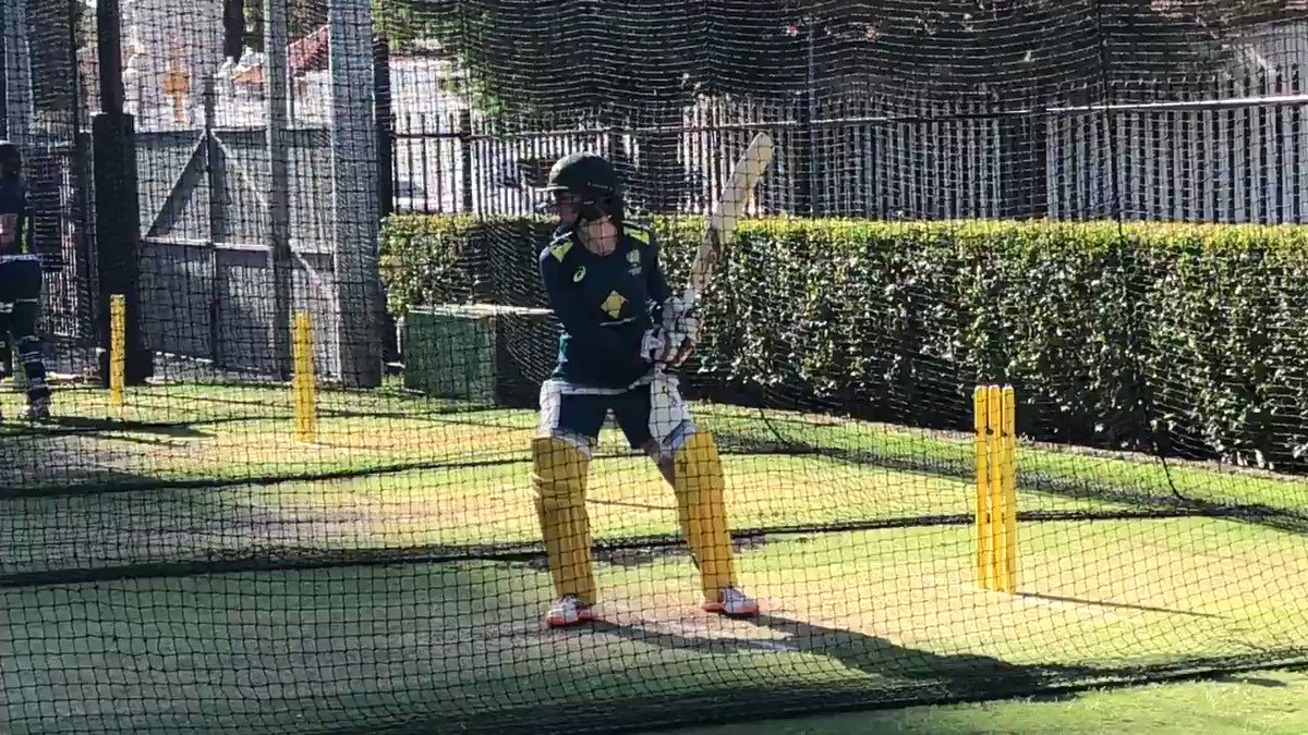 VC Rach Haynes having her second net of the afternoon 💪 #AUSvNZ