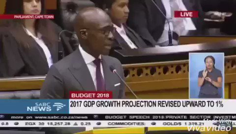 Last year we were confronted by this during the budget speech. #Budget2019