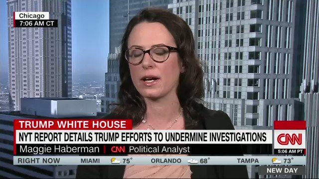 "JUST NOW: ""That's a lie.  I don't know if he knows it's a lie or whether he is telling himself this is true, whether his staff doesn't tell him we are reaching out.""  @maggieNYT on @realDonaldTrump claim the NYT didn't reach out over new story. @NewDay"