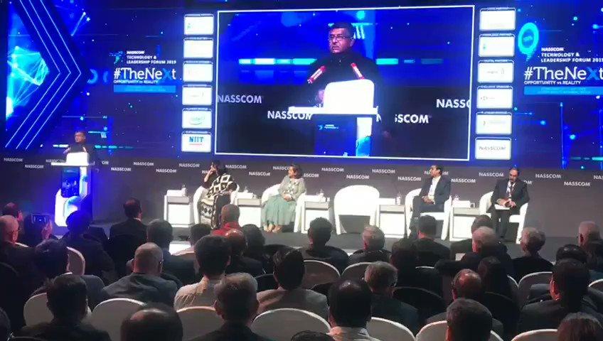 """#DigitalIndia is designed to empower ordinary citizens"".   Sh. @rsprasad talks about how @_DigitalIndia is working towards digital inclusion. #ThinkDigitalThinkIndia #NASSCOM_TLF"
