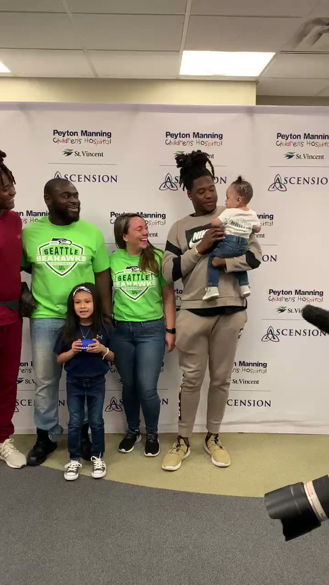 Their ability to move people and make a difference in this world is inspiring @PeytonChildrens @ShaquillG @Shaquemgriffin