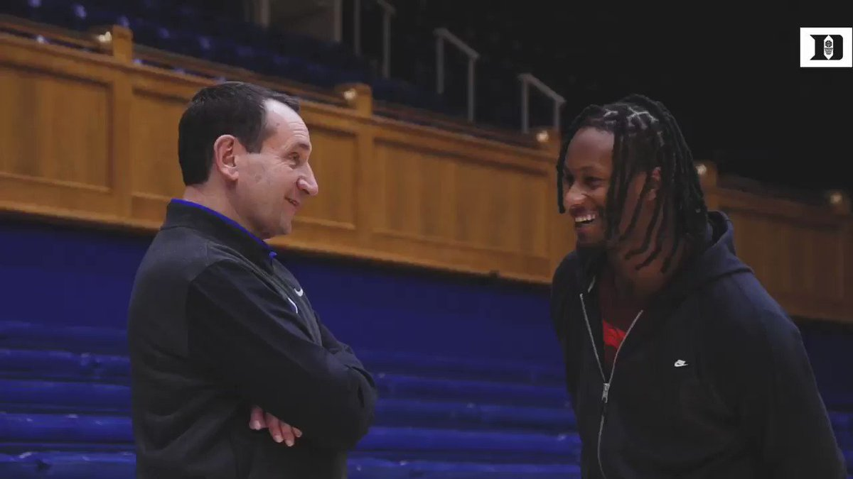 Our guy @TG3II came through to get some work on Coach K Court with @NdotSmitty and @JonScheyer.   A ram in the fam 🐏🤭😈😈😁