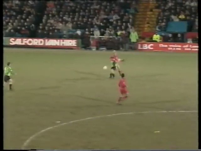 FORGOTTEN GOAL: 26 years ago today Manchester United are 2-0 up and cruising at Wimbledon. They're winding down the clock when Denis Irwin suddenly decides he's had enough of this time-wasting shite...