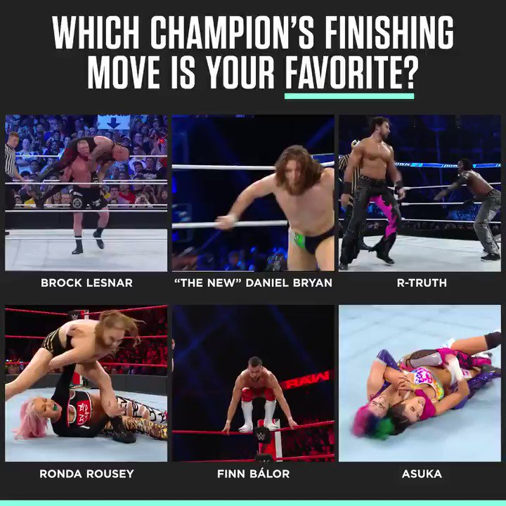 Which titleholder's got the best finisher in the game? #WAMWednesday