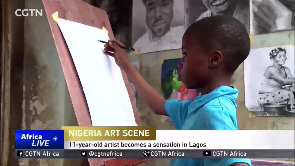 In awe  His name is Waris Kareem.  Youngest Nigerian Artist. He is absolutely amazing.   Retweet ❤️