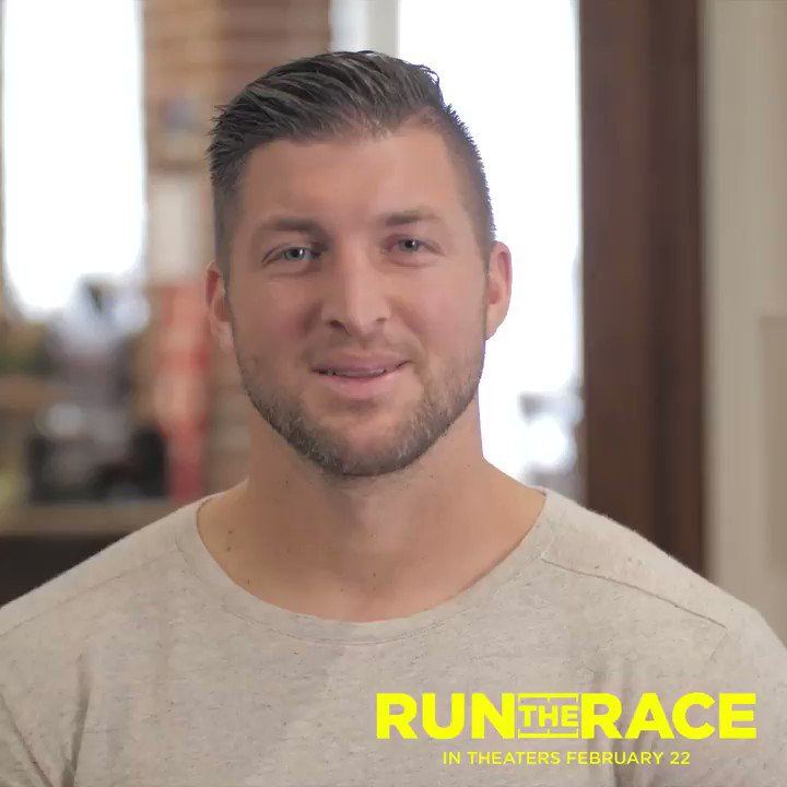 Watch the trailer & see what @TimTebow has to say about the new movie he and his brother were a part of making—@RunTheRaceMovie—out in theaters this Friday, Feb. 22. Don't miss it! https://tickets.runtheracemovie.com/