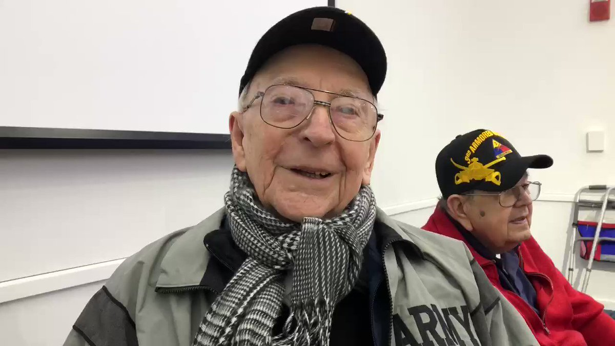 World War II tank gunner Clarence Smoyer talks about what it was like to ride in a tank again today in Boston, the first time he has climbed aboard in 75 years.