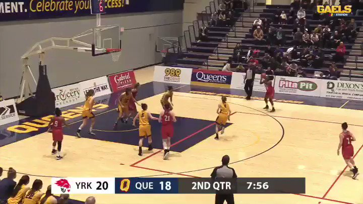 """MUST SEE VIDEO   🗣""""Got it!!""""  Lions nail seven second-half three-pointers en route to upsetting Queen's tonight! #lionpride 🏀💦💦💦"""