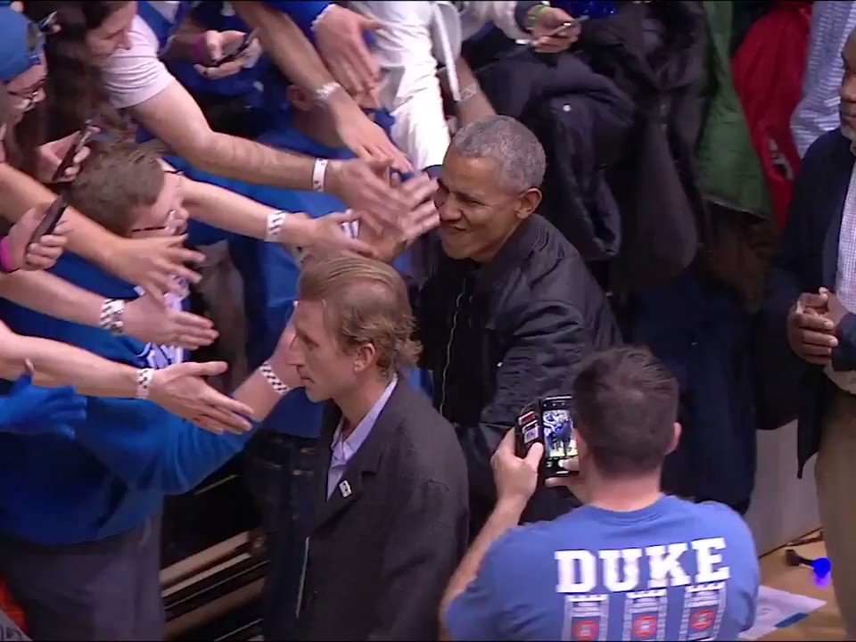 Obama is a man of the people, even the Cameron Crazies.