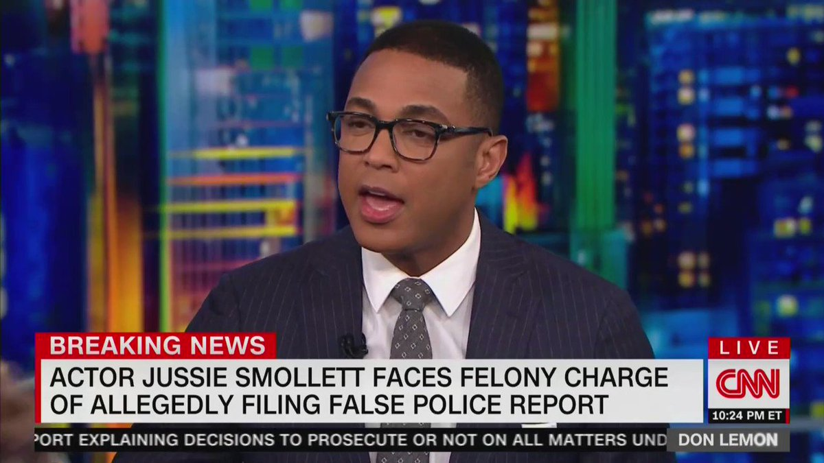 """CNN's Don Lemon says that it's """"not"""" Jussie Smollett's """"fault"""" that he lost """"in the court of public opinion"""""""