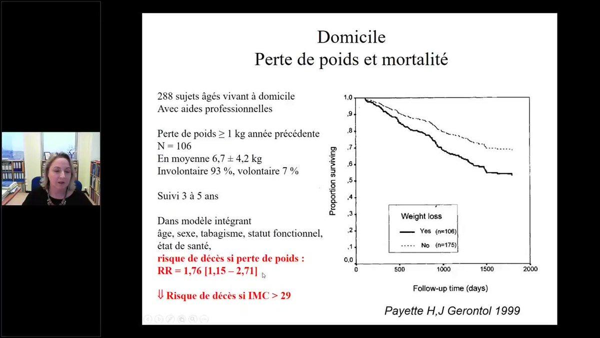 """WEBINAIRE """"Nutrition du senior : de la fragilité à la dénutrition"""", Pr Agathe Raynaud-Simon. Extrait. L'intégralité de ce webinaire d'1h est accessible aux adhérents de la SFNCM (@nut_clinique). Rendez-vous sur ➡️ http://www.sfncm.org !"""