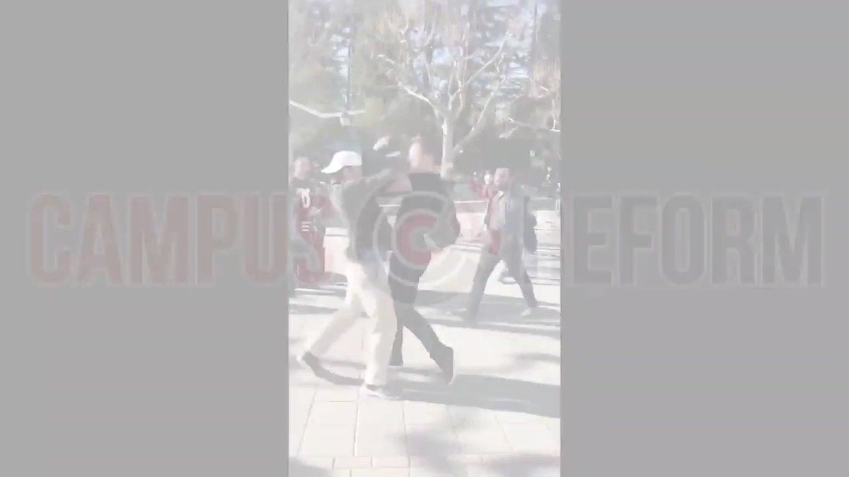 Sickening Video: Conservative assaulted by Leftist at UC Berkeley.   Watch the full thing at @campusreform  https://www.campusreform.org/?ID=11898