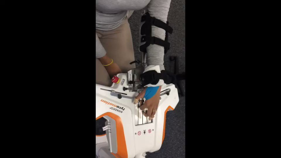 Today at MOTIONrehab's Intensive Neuro Rehab Centre we focused on Upper Limb Rehab & in particular rehab of the hand, fingers & thumb using AMADEO. This short film shows the AMADEO at work with a little bit of help from kinesiology tape to help thumb position on the AMADEO.