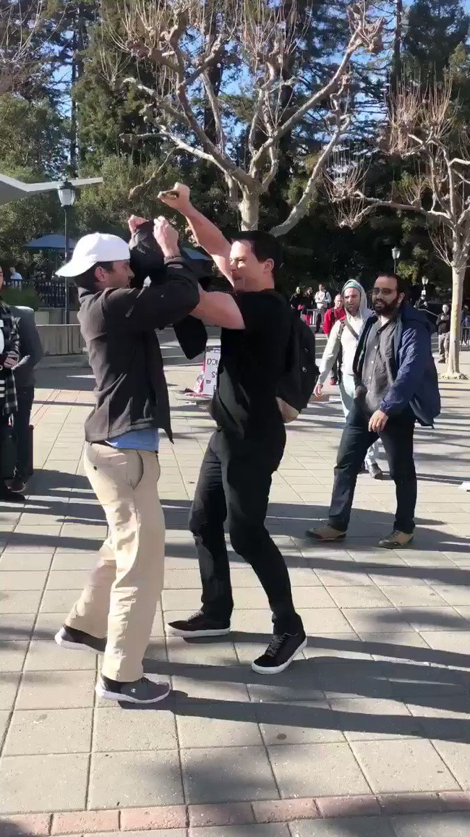 Another conservative student was assaulted on @UCBerkeley's campus. I just spoke to the survivor of the attack who is a dear friend of mine. He is in good spirits and plans on continuing to fight for conservative values on campus once his black eye is gone! What a bad a**!
