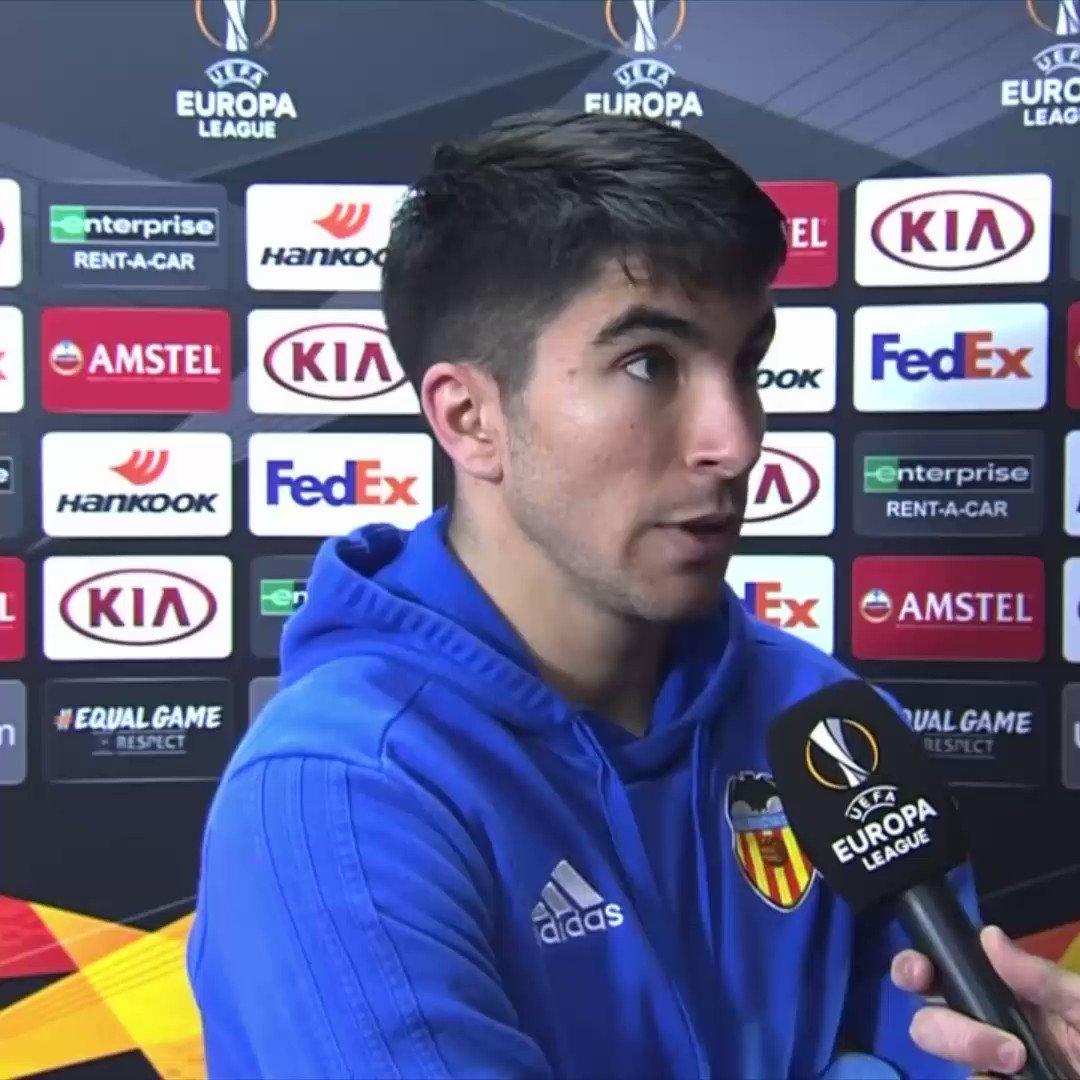 .@Carlos10Soler habló en exclusiva tras la clasificación del @valenciacf a la siguiente fase de la #UEL.