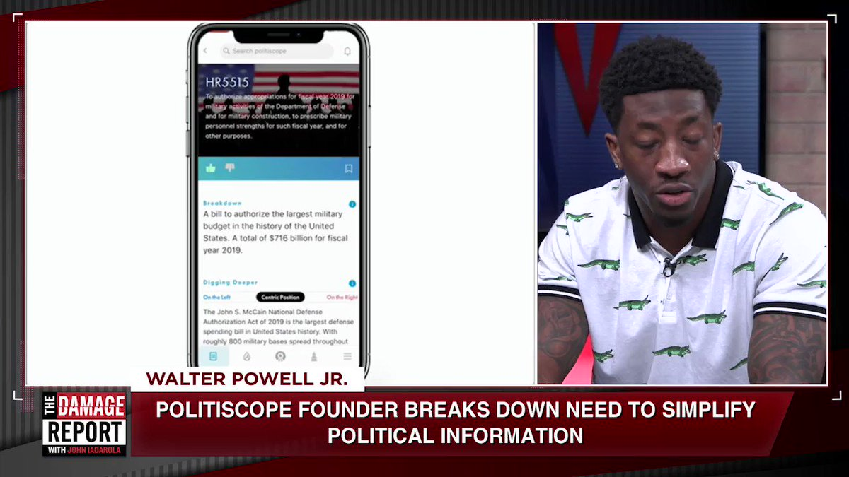 """WATCH: """"One day a bill got passed and we were having a discussion how naive and misinformed people can be when it comes to politics, including me. It hit me as clear as day, the vision of Politiscope...""""  - @SpeedKillz9 on the concept behind @PolitiscopeApp"""