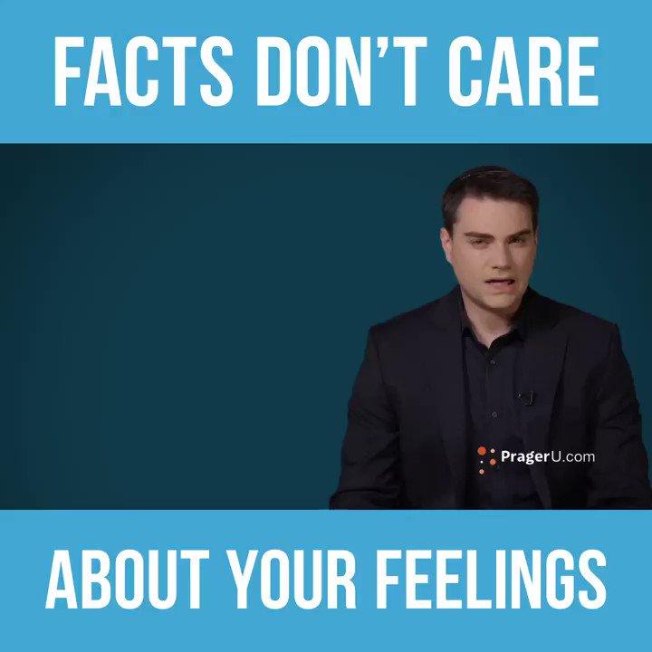 Image for the Tweet beginning: Facts > feelingsWatch as @benshapiro
