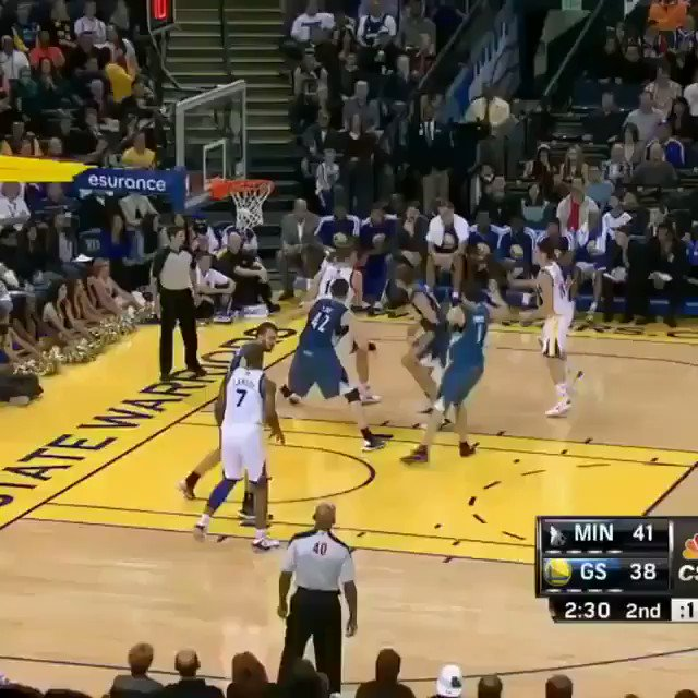 Harrison Barnes with the emphatic poster dunk on Nikola Pekovic🔥. One of the most underrated posters.
