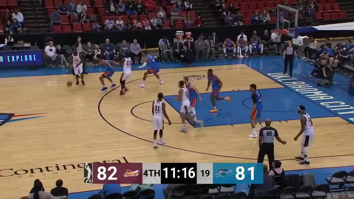 Undrafted rookie Deonte Burton @DeeBurton30 has been a human highlight reel in the G-League and is starting to get real opportunities for the Thunder. Here's just a sample size of what he can do on the court: #ThunderUp #NBARooks