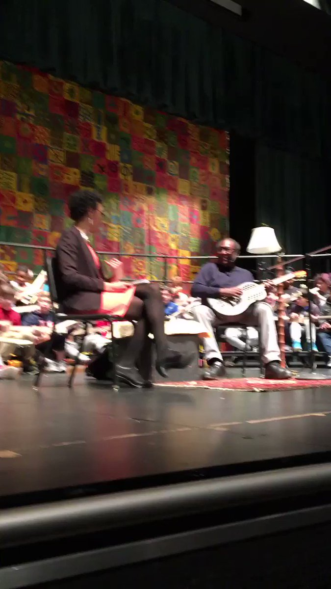Rick Franklin, Wilma Jones, and the middle school tech ed students playing the blues on their cigar box guitar. <a target='_blank' href='http://twitter.com/APS_CTAE'>@APS_CTAE</a> <a target='_blank' href='http://twitter.com/KMSteched'>@KMSteched</a> <a target='_blank' href='http://twitter.com/GunstonTech'>@GunstonTech</a> <a target='_blank' href='http://twitter.com/TJMS_TechEd'>@TJMS_TechEd</a> <a target='_blank' href='http://twitter.com/MrDemarino'>@MrDemarino</a> <a target='_blank' href='http://twitter.com/WMSWolfbots'>@WMSWolfbots</a> <a target='_blank' href='https://t.co/FmcVEyECbq'>https://t.co/FmcVEyECbq</a>