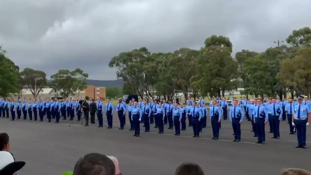 What an amazing occasion for all the men and woman graduating from the NSW Police Academy in Goulburn. Congratulations on such a wonderful achievement. Thank you for stepping up to keep all of us safe. We deeply appreciate it. @troygrant @nswpolice