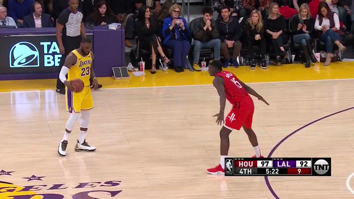 LEBR💥N JAMES!   (via @NBA)