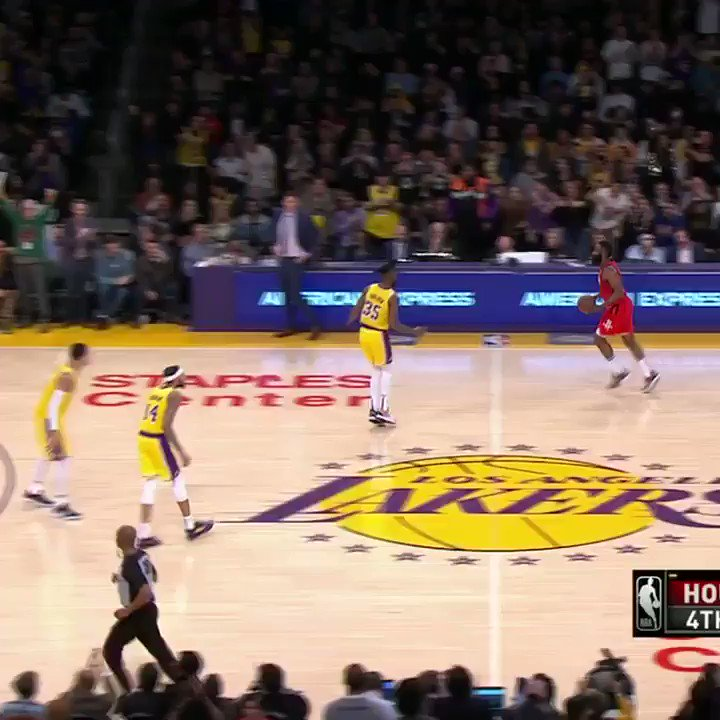 LeBron draws a charge on James Harden in crunch time of a 6-point game to foul him out.