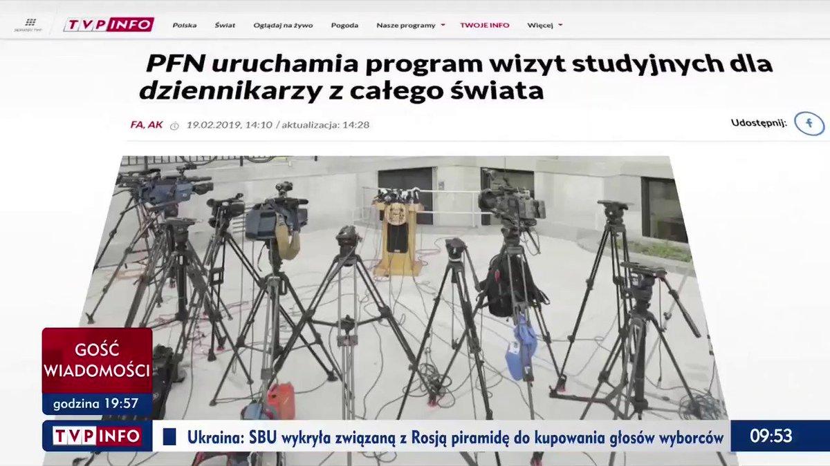 .@Fundacja_PFN uruchamia program wizyt studyjnych dla dziennikarzy z całego świata #wieszwięcej   Zobacz więcej ⤵️ https://www.tvp.info/41379763/pfn-uruchamia-program-wizyt-studyjnych-dla-dziennikarzy-z-calego-swiata…