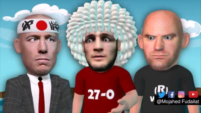 GSP announce retirement after UFC shutting Down his super fight with Khabib #GSP #Retirement #SuperFight #UFC #Animation