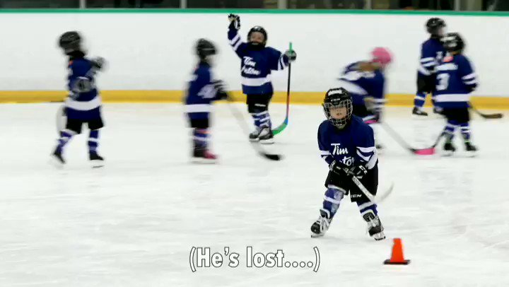 I mic'd up my 4 year old at Timbits Hockey so I could finally understand what the heck he was doing out there. It was.... Interesting  @TimHortons @NHL