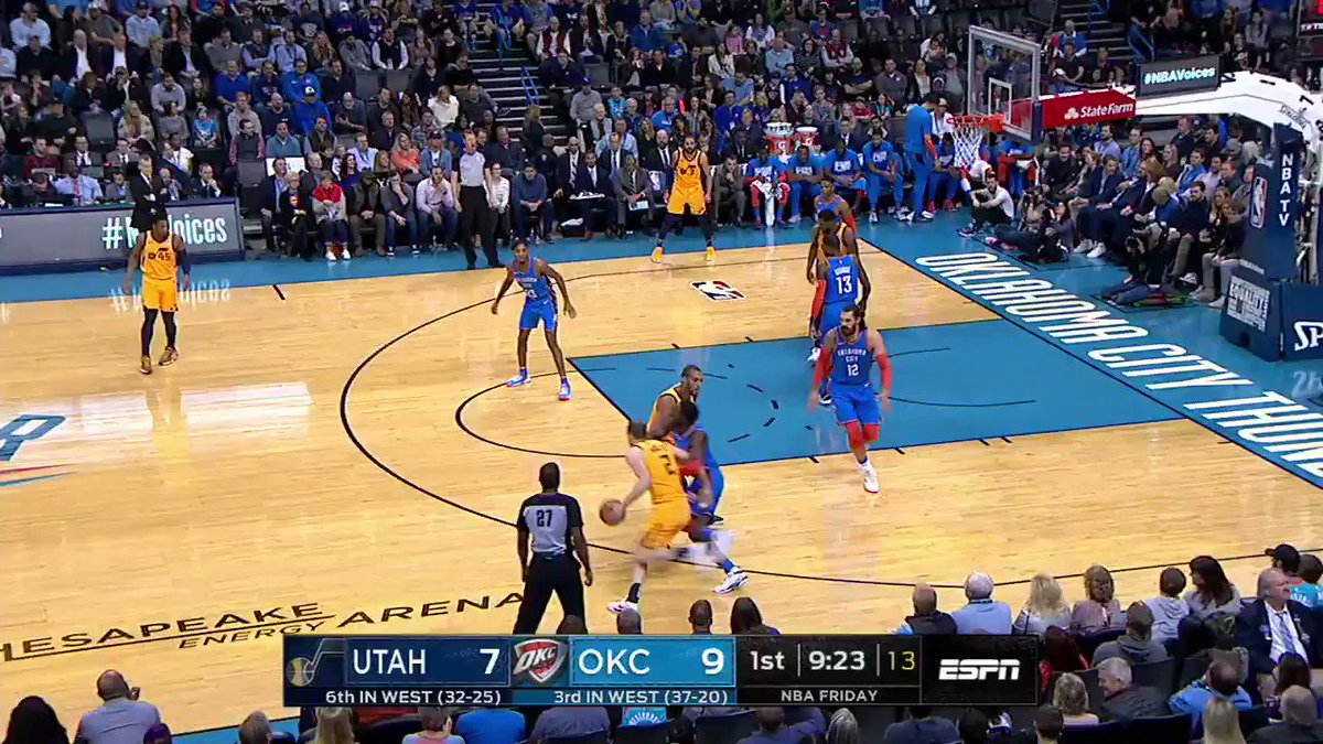 PG and Steven Adams made a business decision when Donovan Mitchell got up 💥