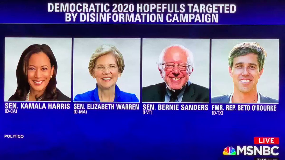 """""""...using disinformation & social media as the weapons platform of choice then what you're going to see is 10 massive pushes to make sure the Democrats tear each other apart.""""  @MalcolmNance @TheLastWord"""