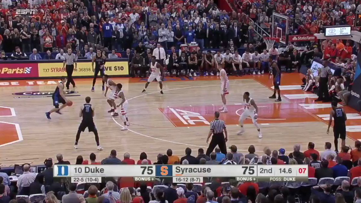 The last time Duke visited Syracuse in the Carrier Dome, THIS happened.  What will happen tonight when they meet again?