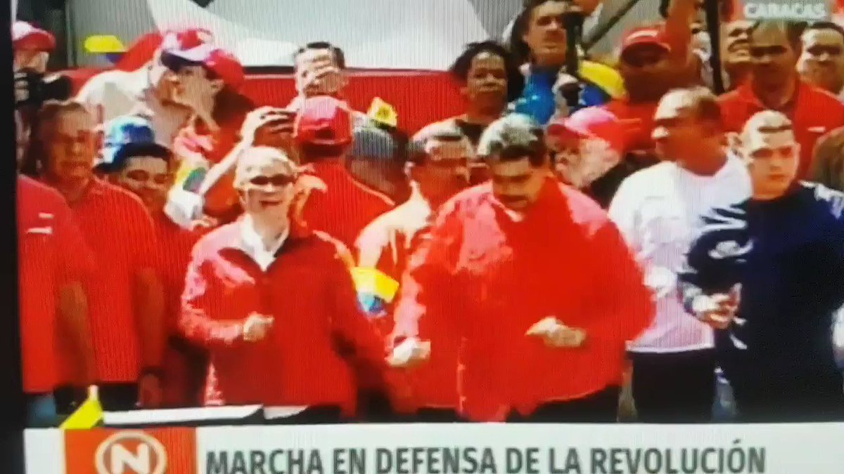 Maduro dances on national TV as national guards fire tear gas and plastic pellets at crowds trying to move humanitarian aid into the country along the Colombian border