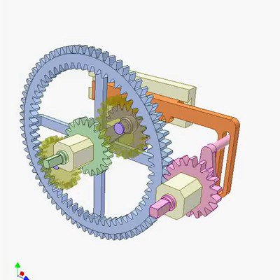 Gear, Rack and Linkage Mechanism