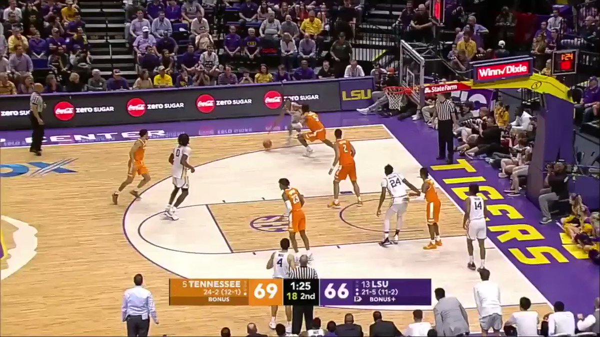 No. 5 Tennessee and No. 13 LSU are going down to the wire!   Here's the 3 that tied it all up: