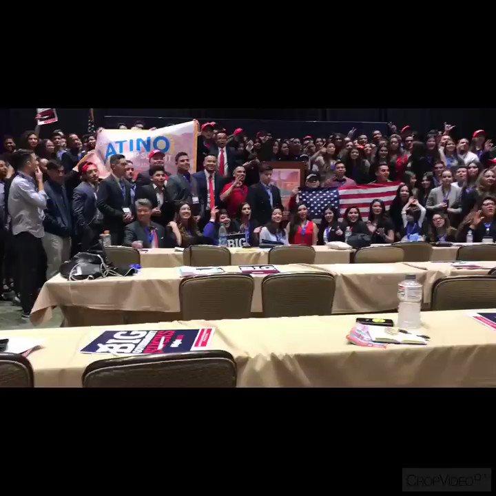 ⚠️Warning ⚠️ Liberals  You may be triggered   Latinos/Hispanics that love Trump, love the USA & want to ‼️BUILD THE WALL ‼️  Young Latino Leadership Summit here in Phoenix AZ   Thanks to @TPUSA   #YLLS #RNHA #LatinosWithTrump