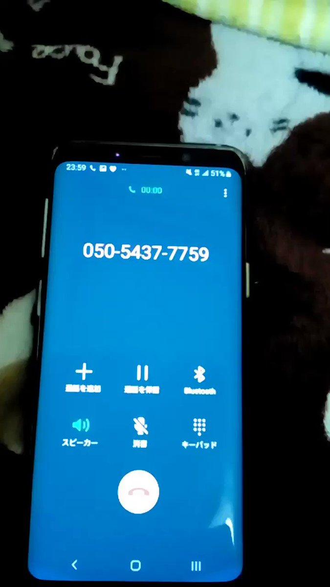 050-5437-7759に電話かけたらコンギョが流れるっていうのをどこかで見たんだけど、本当に流れるとはな…