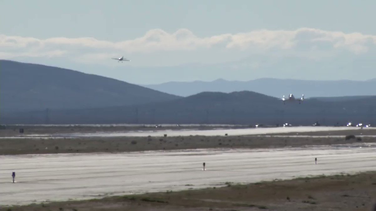 A smooth runway landing for SpaceShipTwo after traveling at three times the speed of sound into space.