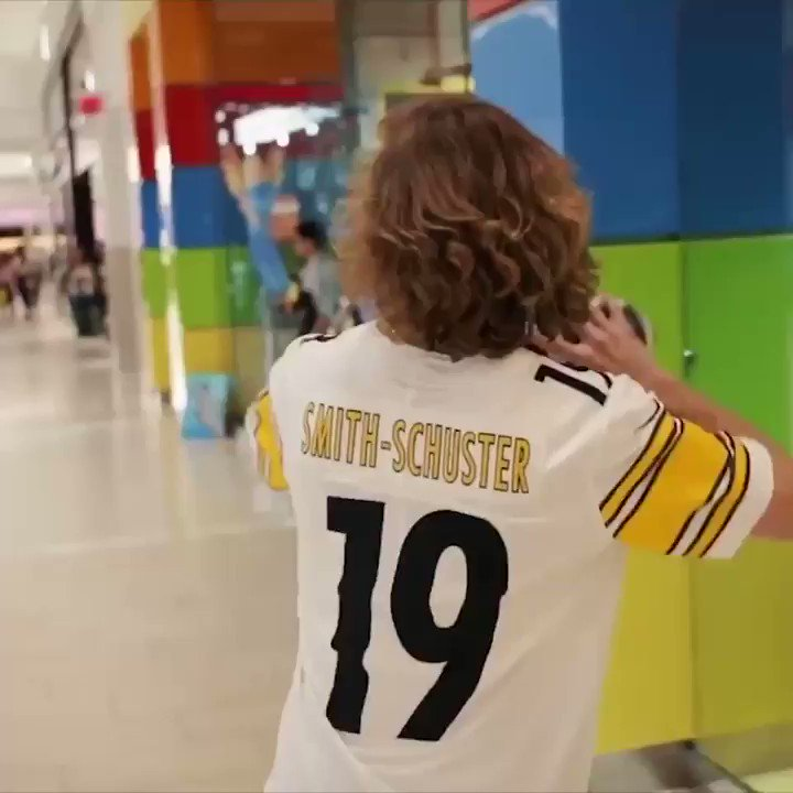 I've been really missing football, so I went and played in a mall.