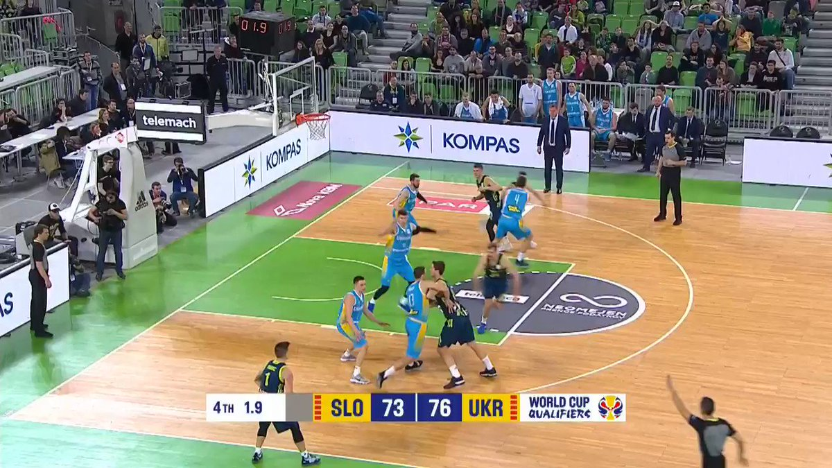⏰ @Zoran_Dragic sends the game to OT with the insane @Tissot Buzzer Beater! #ThisIsYourTime  @Kzs_Si would go on and win 85-84 in extra time 👀