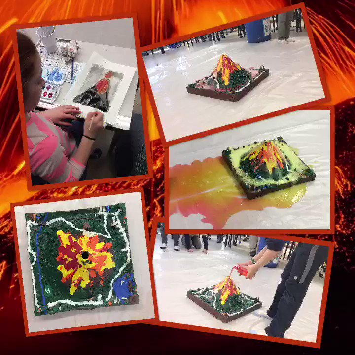Managed to get to see the last Volcano 🌋 in 4v @Tupper1930 this afternoon! Kids erupt with excitement every time! The colours were amazing as they mixed across the floor! Thanks for letting me join!