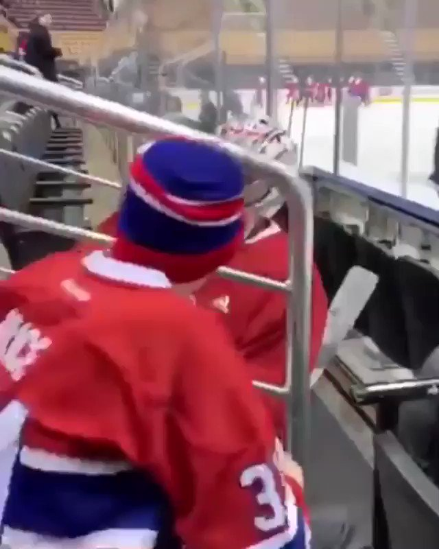 Carey Price showing he is one of the classiest athletes in all of sports. The young man (Anderson) idolizes Price and his mother, before dying of cancer, promised she would try to help them meet. It finally happened. Both feel the emotion as Anderson's dream finally comes true.