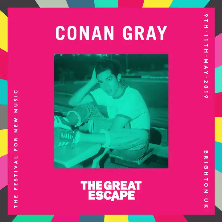 Brighton is in for a treat 💥 @conangray x @thegreatescape TIX ↓ bit.ly/TGEFEST19
