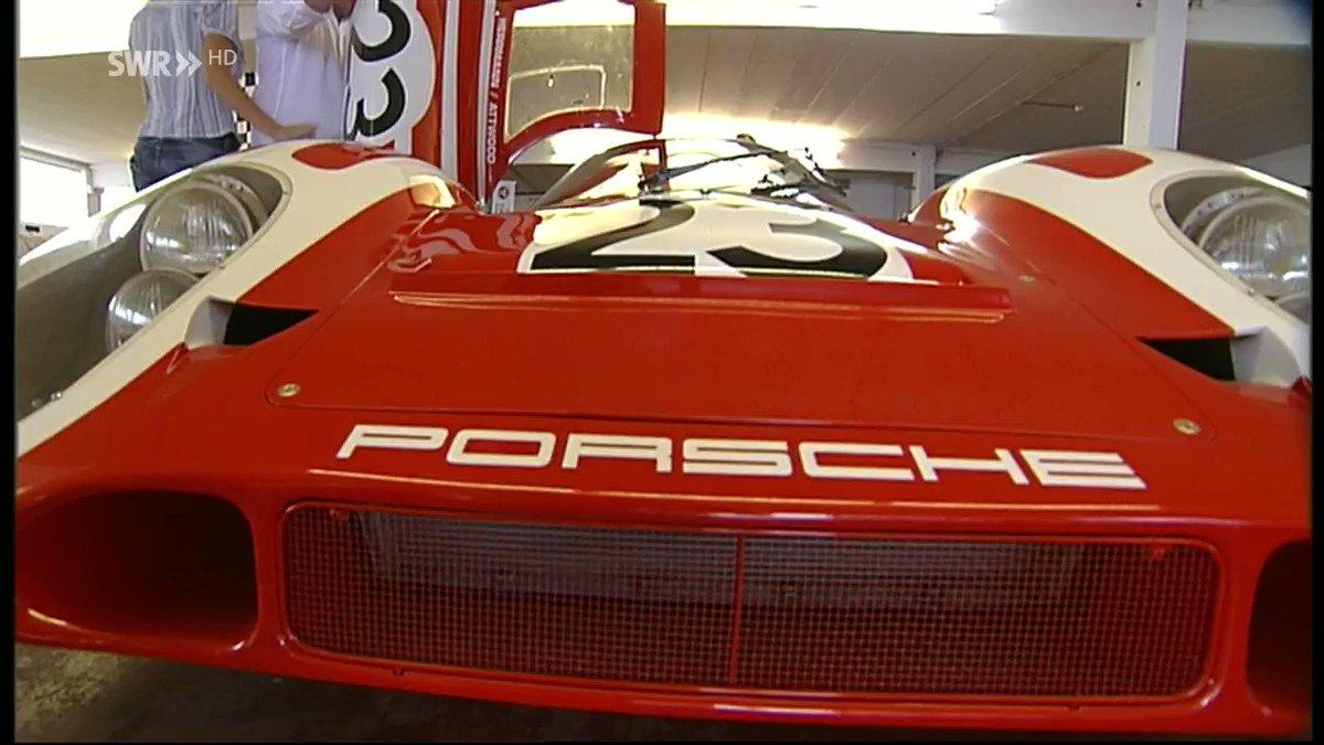 So wird eine Le Mans Legende geparkt.  @SWRAktuellBW berichtet anläßlich der 50 Jahre #Porsche917 zum Auftakt des Autosalons in Genf. Montag im @SWR Fernsehen, 19:30 Uhr
