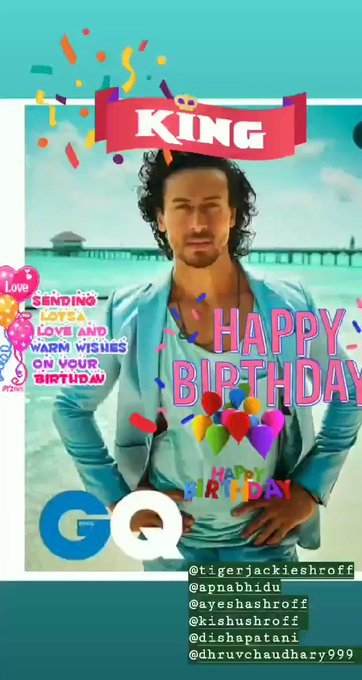 Happy birthday Tiger Shroff.... Love you