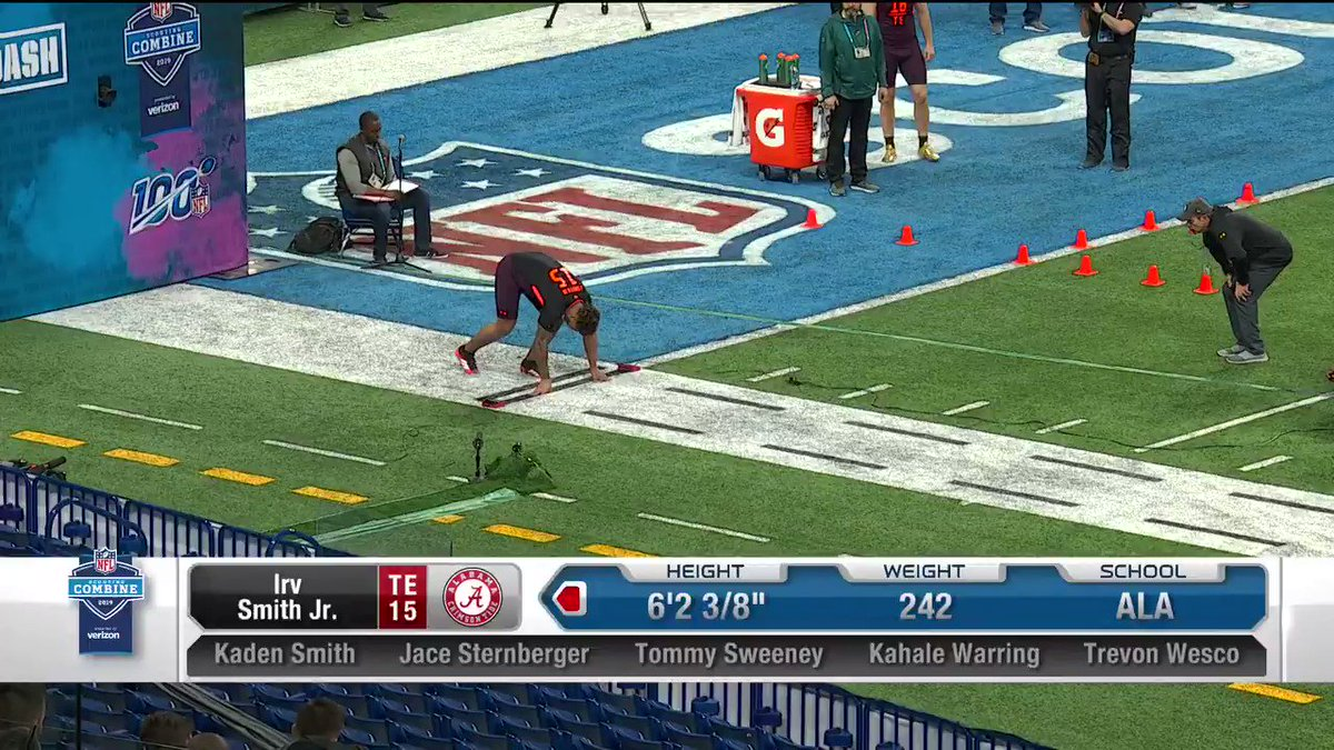 4.64u - 👀👀👀 We see you @swervinirvin_ 📺: #NFLCombine on @nflnetwork #OutworkYesterday | #RollTide