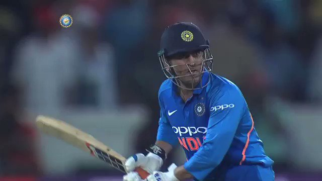 MS Dhoni finishes it off in style.   Kedar Jadhav (81*) and MS Dhoni (59*) hit half-centuries as #TeamIndia win by 6 wickets and take a 1-0 lead in the 5 match ODI series #INDvAUS