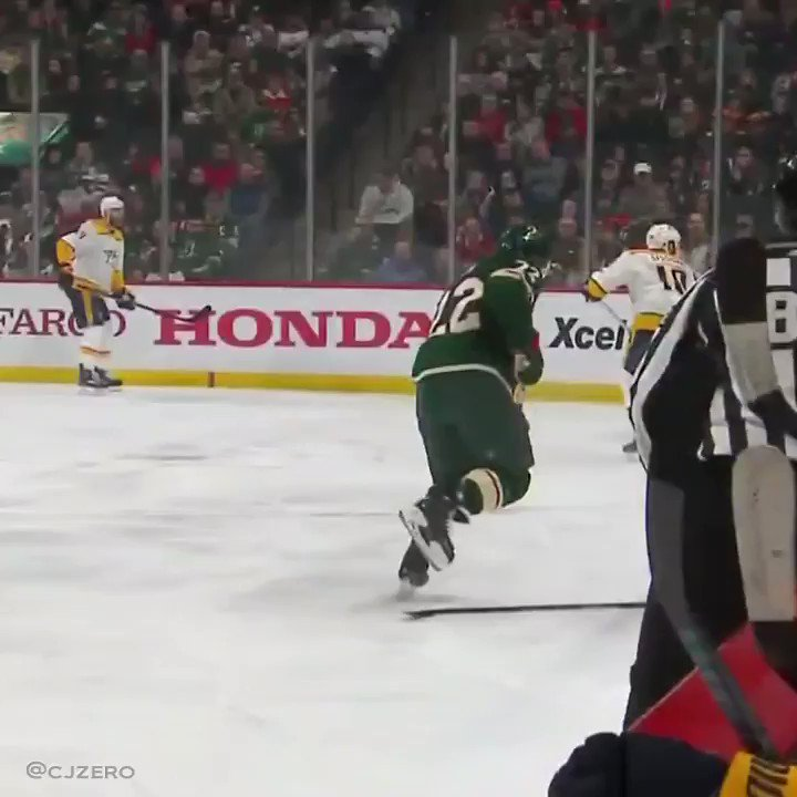 Wild defenseman saves teammate's stick in what's easily the most mesmerizing video of the year