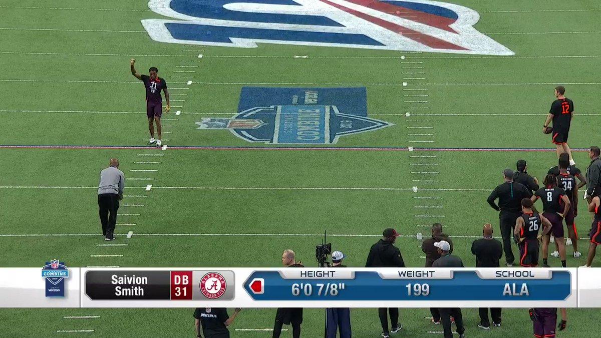 Coverin' ground! @Saivion_1k 📺: #NFLCombine on @nflnetwork #OutworkYesterday | #RollTide